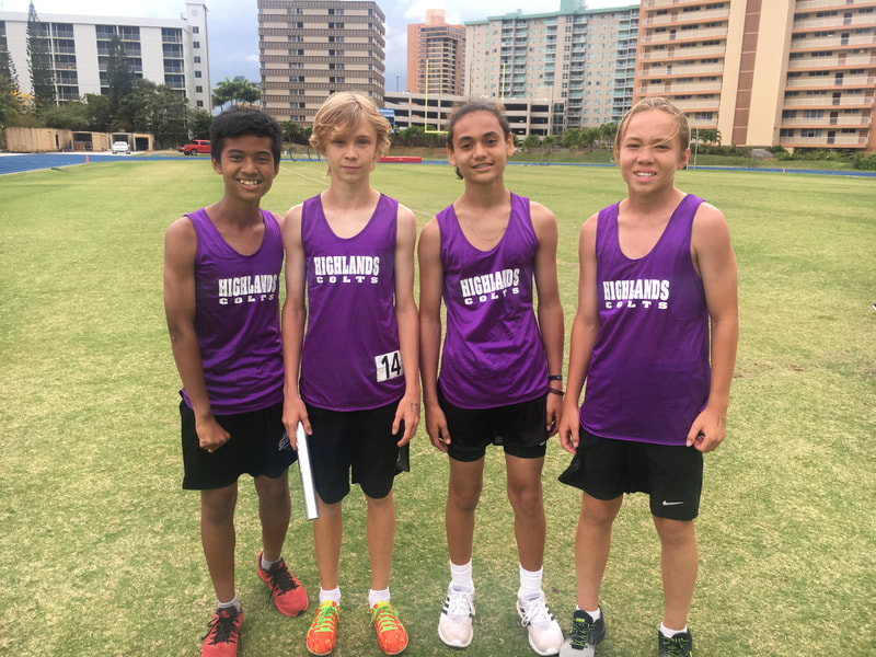 Another boys' relay team.